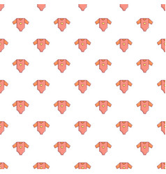 Baby girl clothes pattern seamless vector