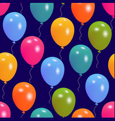 balloons party seamless pattern vector image