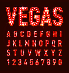 casino letters vector image vector image