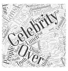 Celebrity gossip word cloud concept vector