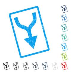 Combine arrow down icon rubber watermark vector