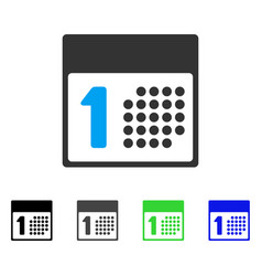 First day flat icon vector