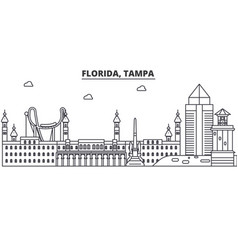 florida tampa architecture line skyline vector image vector image