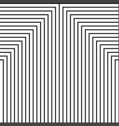 geometry black and white stripes grid pattern vector image vector image