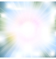 Glow rays from flare explosion vector image vector image