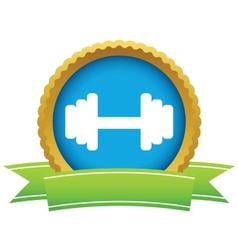 Gold weight logo vector