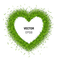 green grass heart vector image