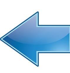 Left icon vector image vector image