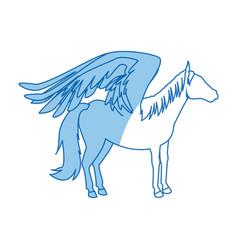 legendary winged horse from greek mythology vector image