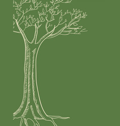 Line art of a tree vector