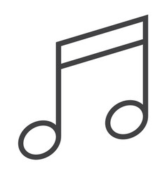 music line icon web and mobile note sign vector image