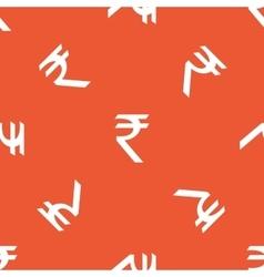 Orange rupee pattern vector
