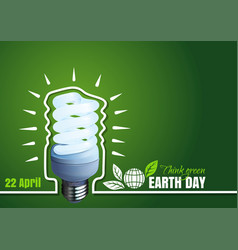 poster for earth day 22 april typographic design vector image vector image