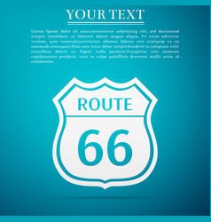 Route sixty six road sign american road icon vector