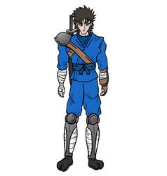 samurai design vector image