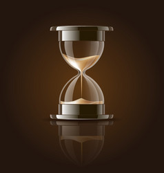 Sand falling in the hourglass vector image vector image