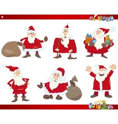 santa on christmas set vector image vector image