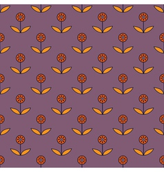 Seamless pattern with small decorative flowers vector image vector image