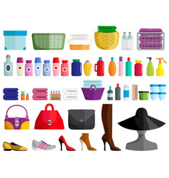 Set of female accessories vector