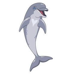 smiling dolphin vector image vector image