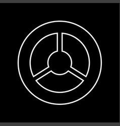 steering wheel it is icon vector image vector image