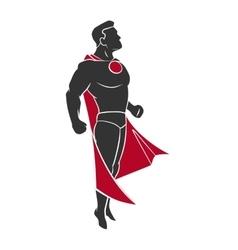 Superhero flying up vector