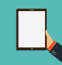 tablet with a white screen vector image