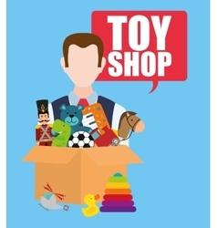 Toy shop design vector