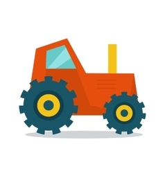 Tractor in Flat Style Design vector image vector image