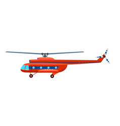 transport helicopter isolated icon vector image vector image