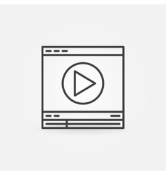 Video player linear icon vector image