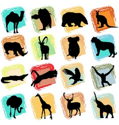 wild animals vector image vector image