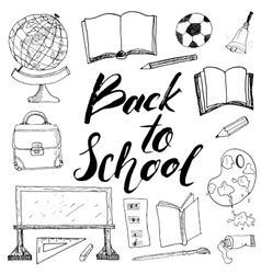 Back to School lettering quote vector image