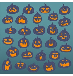 funny pumpkin face background vector image