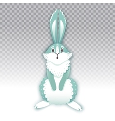 Surprised cartoon rabbit funny bunny cute hare vector