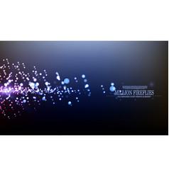 abstract million fireflies background desig vector image