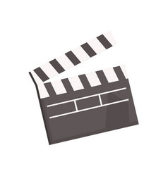 Black open movie clapperboard vector