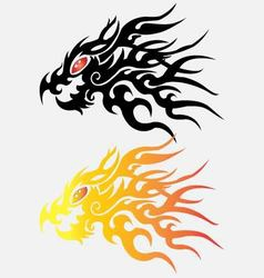 Dragon head on white background vector