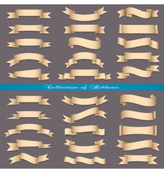 Big set of banners ribbons scrolls vector image