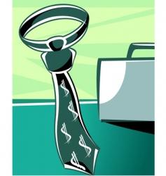 tie and briefcase vector image