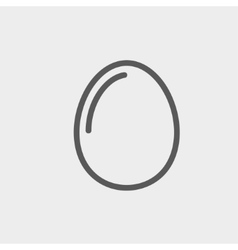 Egg thin line icon vector