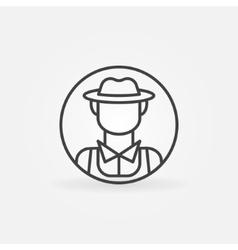 Farmer icon or logo vector