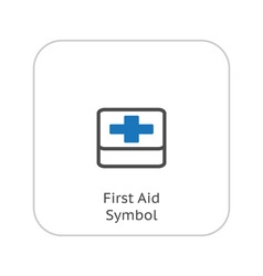 First aid symbol and medical services icon vector