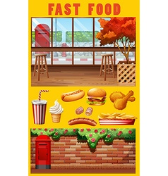 Fast food and restaurant vector