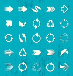 Arrow sign icons retro collection vector