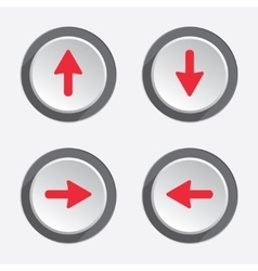 Arrow pointer flag icon set move cursor sign vector