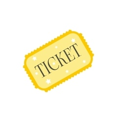 Amusement park ticket icon vector