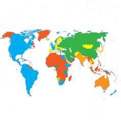 World map  continents vector