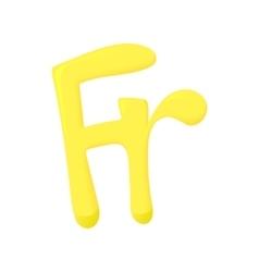 Sign frank icon cartoon style vector