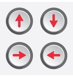 Arrow pointer flag icon set Move cursor sign vector image